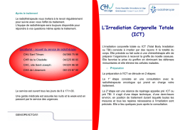 L`irradiation totale du corps (TBI)