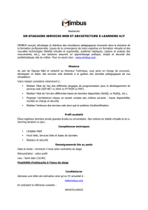 un stagiaire services web et architecture e-learning h/f
