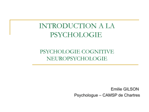 introduction a la psychologie - E