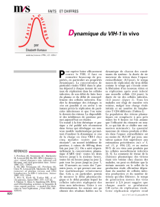 Dynamique du VIH-1 in vivo - iPubli