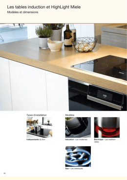 Les tables induction et HighLight Miele