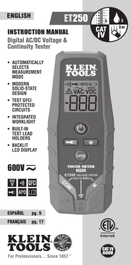 INSTRUCTION MANUAL Digital AC/DC Voltage