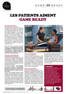 LES PATIENTS AIMENT GAME READY
