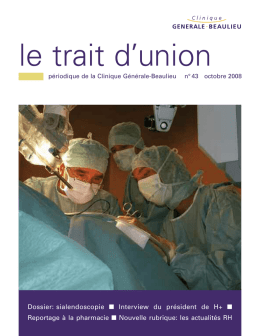 Trait d`Union no 43 - Clinique Générale Beaulieu