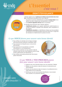 Identification des patients