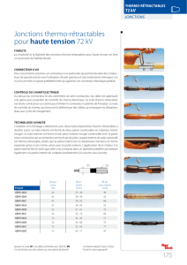 Jonctions thermo-rétractables pour haute tension 72 kV