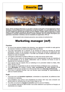 Marketing manager (m/f)