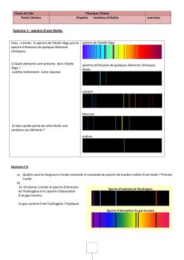 Exercices spectres et lumières d