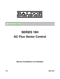 SERIES 18H AC Flux Vector Control