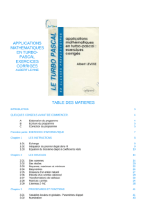applications mathematiques en turbo- pascal exercices