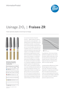 Usinage ZrO2 | Fraises ZR