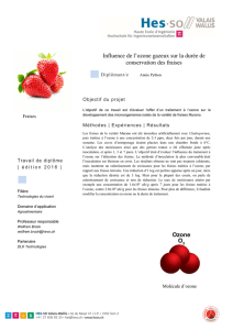 Traitement des fruits à l`ozone