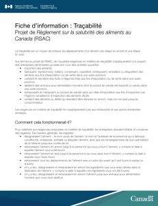 PDF (141 ko ) - Agence canadienne d`inspection des aliments