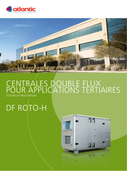 centrales double flux pour applications tertiaires df roto-h