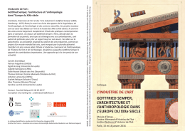 L`INDUSTRIE DE L`ART GOTTFRIED SEMPER, L