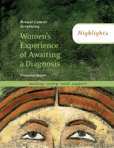 Women`s Experience of Awaiting a Diagnosis