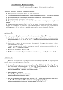 Transformation thermo 3 - Enseignement des Sciences Physiques