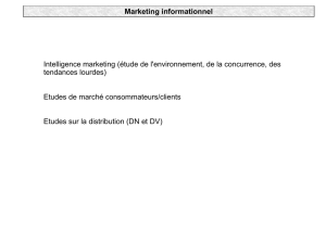 Marketing informationnel Intelligence marketing (étude de l