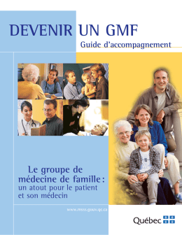 Devenir un GMF - Guide d`accompagnement