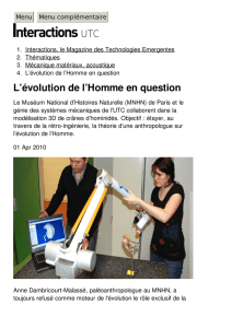 L`évolution de l`Homme en question - Interactions