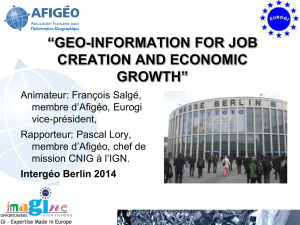 geo-information for job creation and economic growth