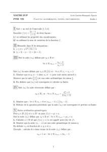 Feuille 5 - Maths Sup PTSI