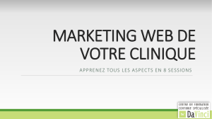 Marketing Clinique – cours 1