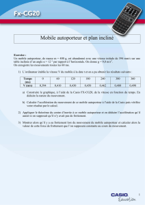 Mobile autoporteur et plan incliné