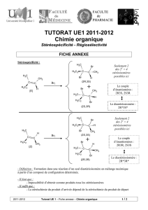 TUTORAT UE1 2011-2012 Chimie organique