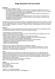 Stage Assistant chef de produit