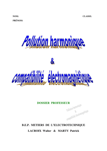 Dossier pollution harmonique