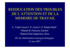 reeducation des troubles de l`attention et de la