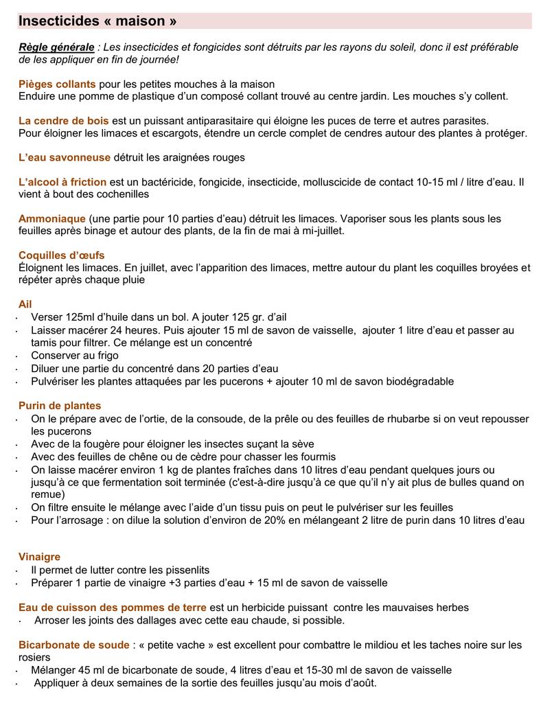 Bicarbonate De Soude Contre Les Pucerons insecticides maison (77 ko pdf)