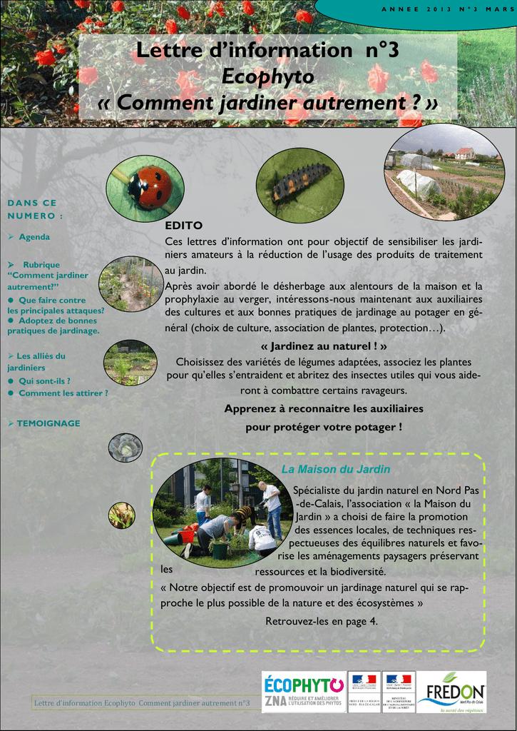 Lettre D Information N 3 Ecophyto Comment Jardiner Autrement