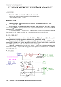 ETUDE DE L`ABSORPTION SINUSOÏDALE DE COURANT