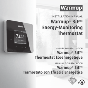Warmup® 3iE™ Energy-Monitoring Thermostat