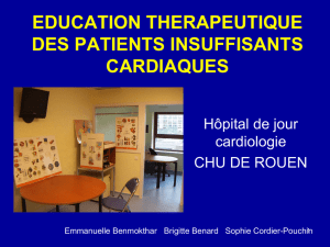 education therapeutique des patients insuffisants cardiaques