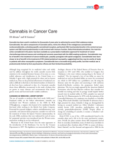 Cannabis in Cancer Care