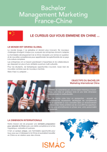 Bachelor Management Marketing France-Chine