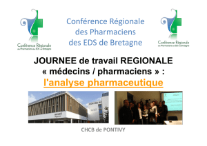 Pharmacie clinique groupe m decins pharmaciens 23 juin