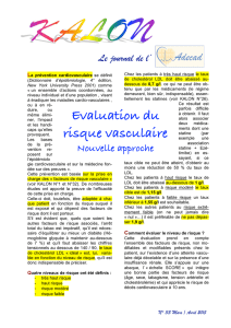 Evaluation du risque vasculaire