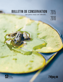 Bulletin de conservation 2015.