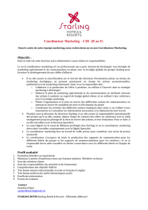 Coordinateur Marketing – CDI (H ou F)