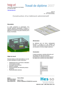Construction d`un bâtiment administratif