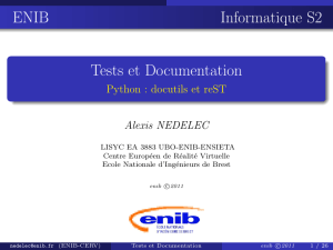 Tests et Documentation - @let@token Python : docutils et reST