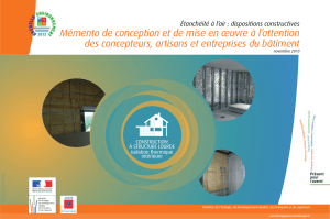 Étanchéité à l`air : dispositions constructives Mémento de