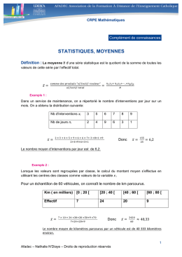 statistiques, moyennes