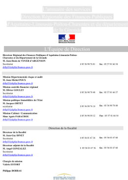 Fiche contacts - Prefectures