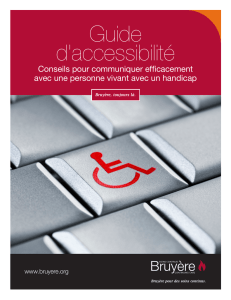 Guide d`accessibilité - Bruyère Continuing Care