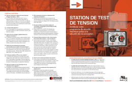 STATION DE TEST DE TENSION